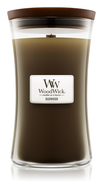 Woodwick Oudwood Scented Candle 609,5 g Wooden Wick