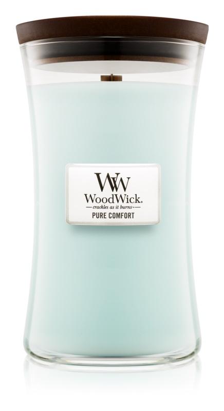 Woodwick Pure Comfort vonná svíčka 609,5 g s dřevěným knotem