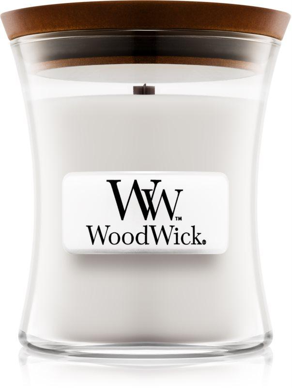 Woodwick Warm Wool świeczka zapachowa  85 g z drewnianym knotem