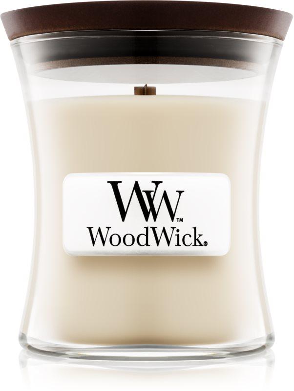 Woodwick Linen vonná svíčka 85 g malá