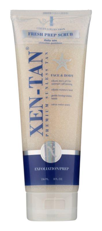 Xen-Tan Clean Collection osvěžující tělový peeling prodlužující opálení