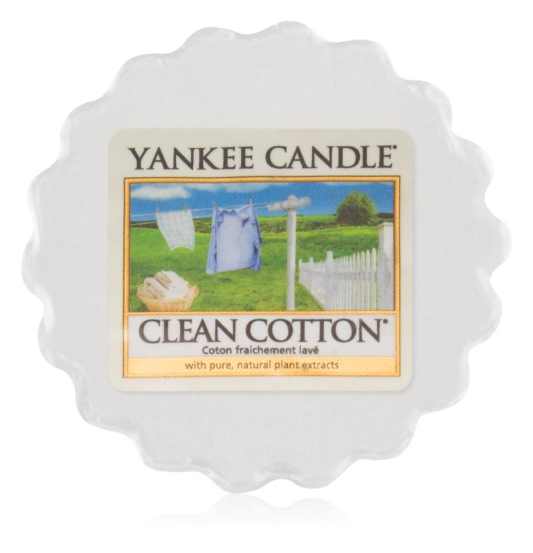 Yankee Candle Clean Cotton tartelette en cire 22 g