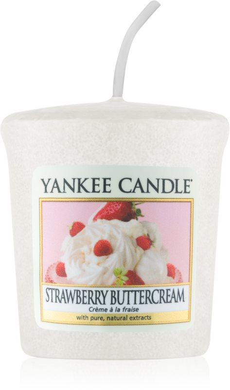 Yankee Candle Strawberry Buttercream votivní svíčka 49 g