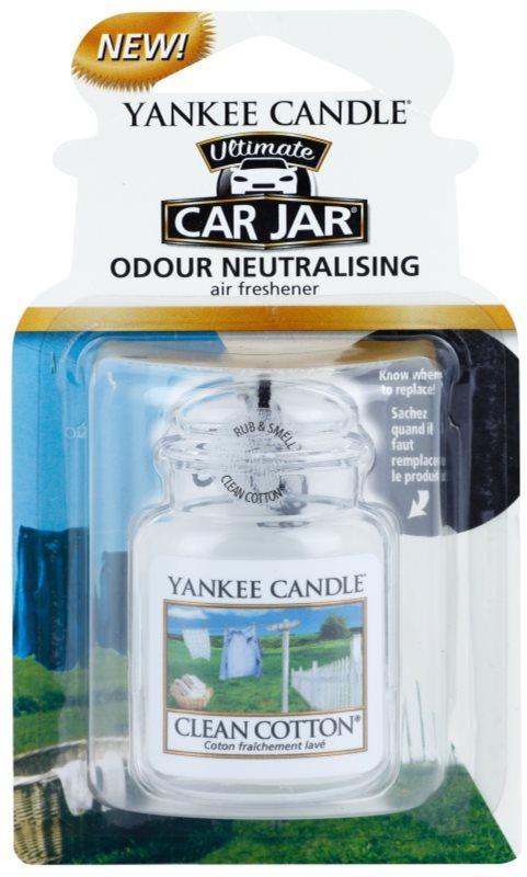 Yankee Candle Clean Cotton odświeżacz do samochodu   wiszące