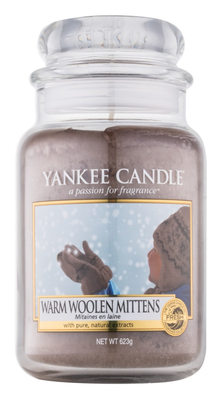 Yankee Candle Warm Woolen Mittens bougie parfumée 623 g Classic grande