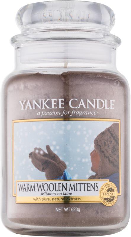 Yankee Candle Warm Woolen Mittens candela profumata 623 g Classic grande