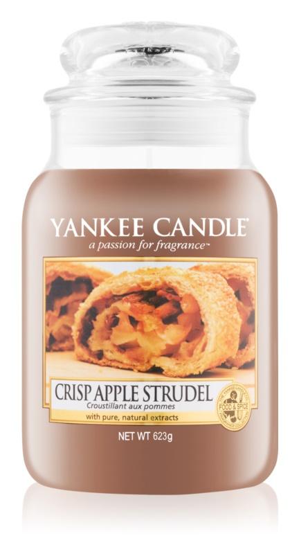 Yankee Candle Crisp Apple Strudel candela profumata 623 g Classic grande
