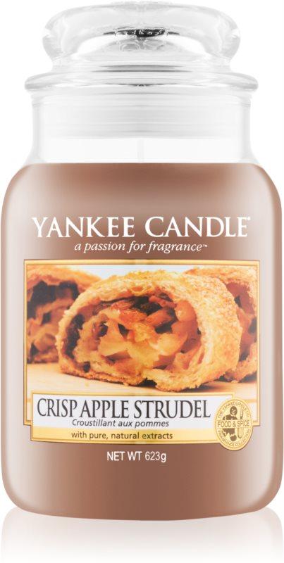 Yankee Candle Crisp Apple Strudel  illatos gyertya  623 g Classic nagy méret