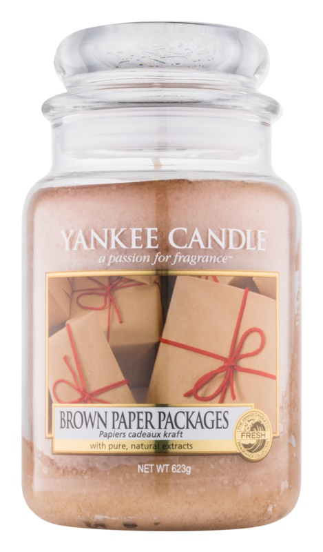 Yankee Candle Brown Paper Packages illatos gyertya  623 g Classic nagy méret