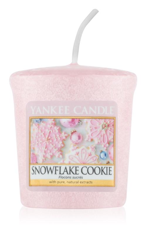 Yankee Candle Snowflake Cookie velas votivas 49 g
