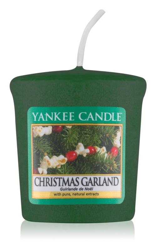 Yankee Candle Christmas Garland votívna sviečka 49 g