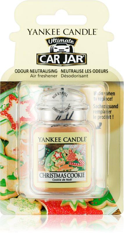 Yankee Candle Christmas Cookie odświeżacz do samochodu   wiszące
