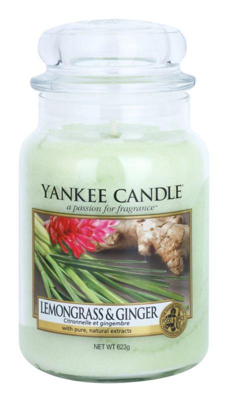 Yankee Candle Lemongrass & Ginger vonná sviečka 623 g Classic veľká