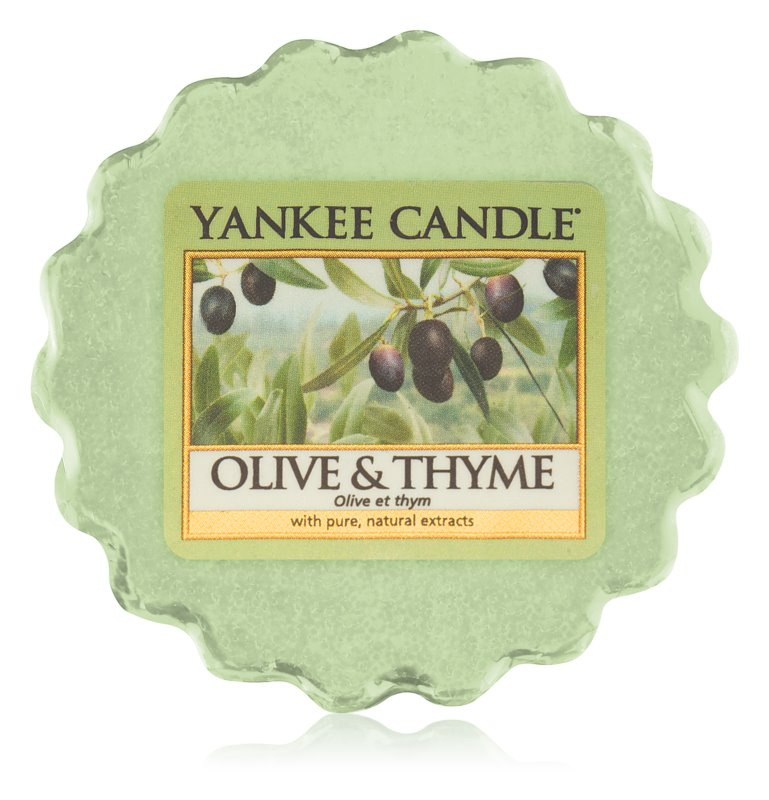 Yankee Candle Olive & Thyme tartelette en cire 22 g