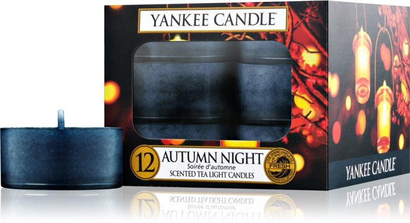 Yankee Candle Autumn Night świeczka typu tealight 12 szt.