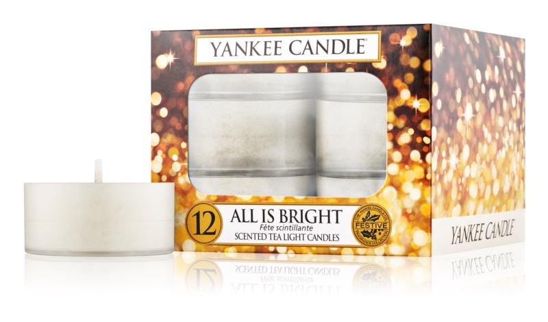 Yankee Candle All is Bright чайні свічки 12 кс