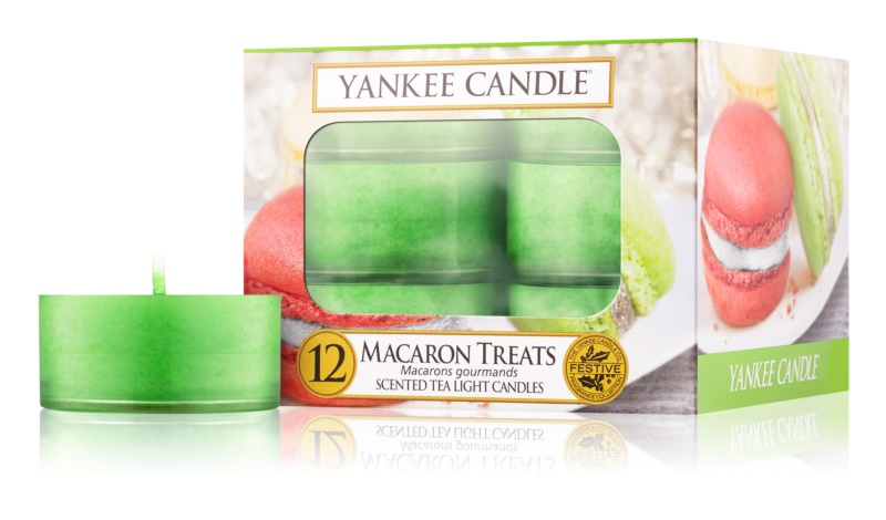 Yankee Candle Macaron Treats lumânare 12 buc