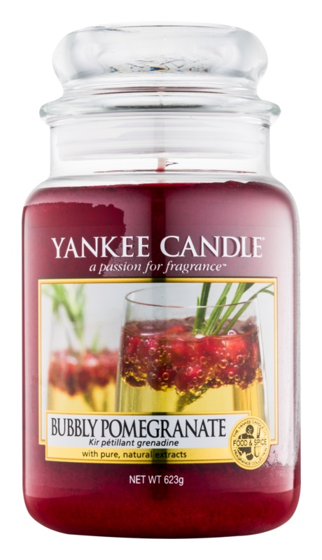 yankee candle bubbly pomegranate bougie parfum e 623 g classic grande. Black Bedroom Furniture Sets. Home Design Ideas