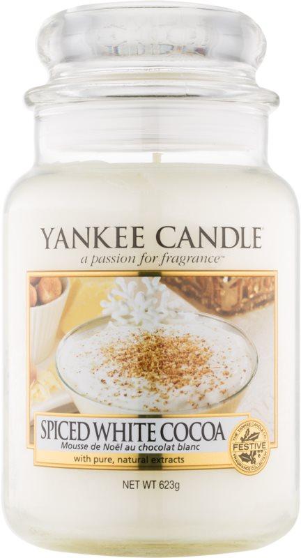 Yankee Candle Spiced White Cocoa ароматизована свічка  623 гр Classic велика