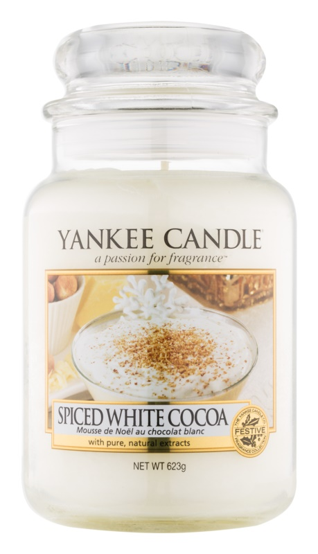 Yankee Candle Spiced White Cocoa vonná sviečka 623 g Classic veľká