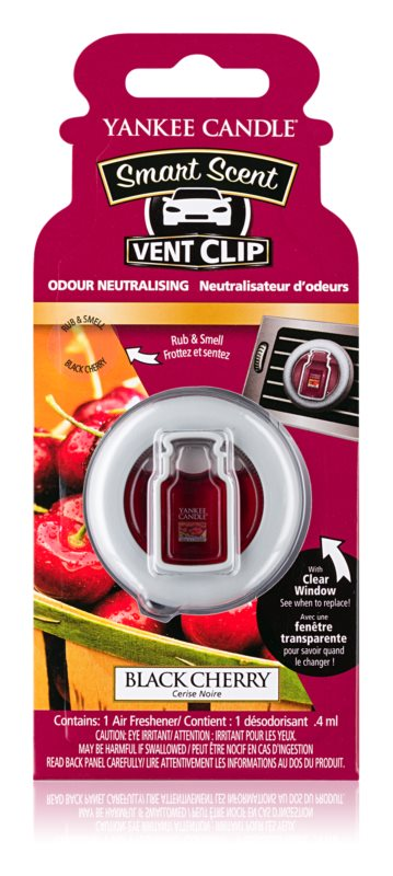 Yankee Candle Black Cherry illat autóba 4 ml clip
