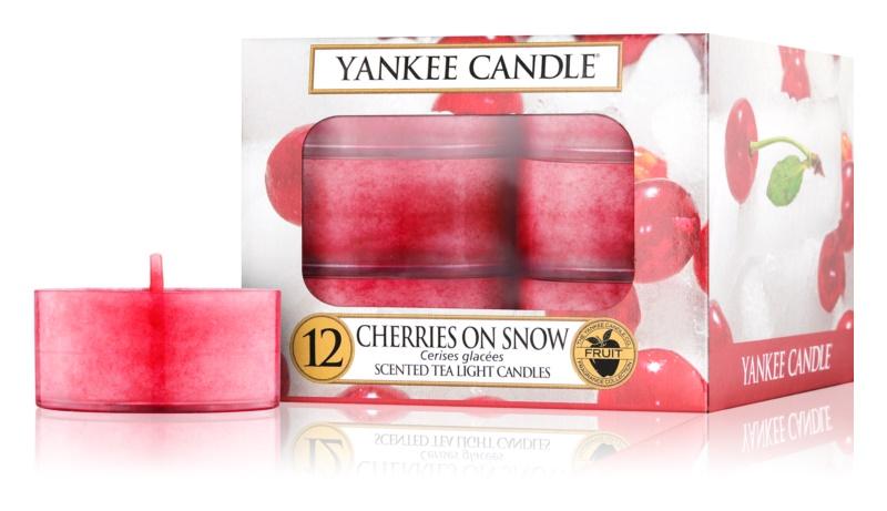 Yankee Candle Cherries on Snow čajová sviečka 12 x 9,8 g