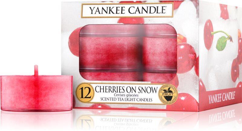 Yankee Candle Cherries on Snow Duft-Teelicht 12 x 9,8 g