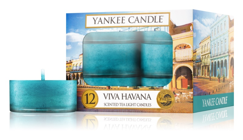 Yankee Candle Viva Havana čajová sviečka 12 x 9,8 g