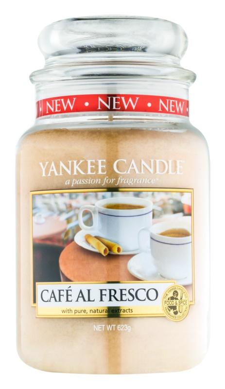 Yankee Candle Café Al Fresco dišeča sveča  623 g Classic velika