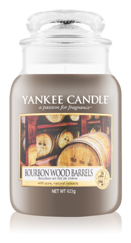 Yankee Candle Bourbon Wood Barrels Geurkaars 623 gr Classic Large