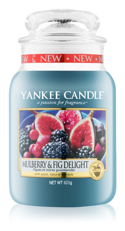Yankee Candle Mulberry & Fig ароматна свещ  623 гр. Classic голяма