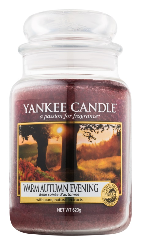 Yankee Candle Warm Autumn Evening candela profumata 623 g Classic grande