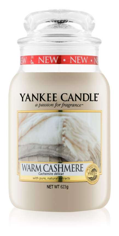 Yankee Candle Warm Cashmere vela perfumada  623 g Classic grande