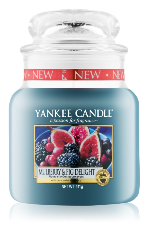 Yankee Candle Mulberry & Fig vonná svíčka 411 g Classic střední