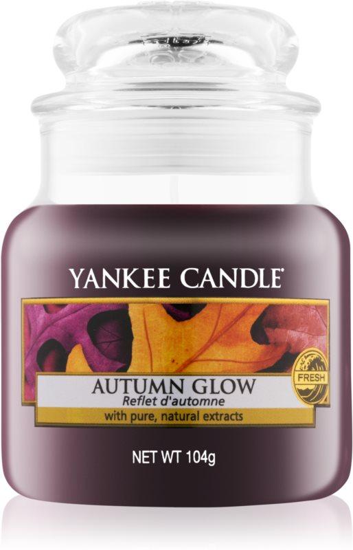 Yankee Candle Autumn Glow ароматизована свічка  104 гр Classic  маленька