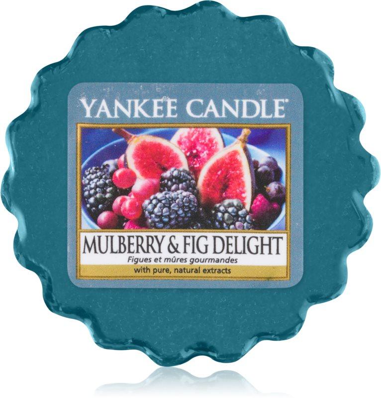 Yankee Candle Mulberry & Fig illatos viasz aromalámpába 22 g
