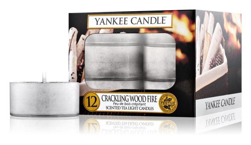 Yankee Candle Crackling Wood Fire čajová svíčka 12 ks
