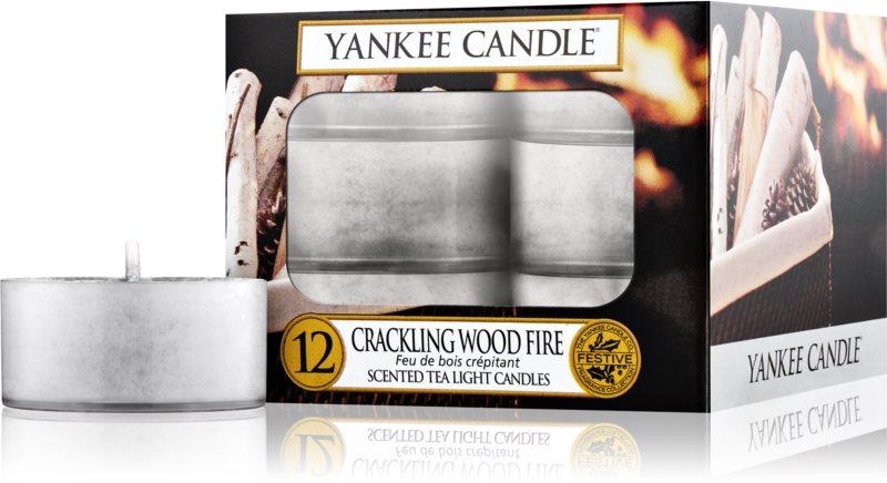 Yankee Candle Crackling Wood Fire čajová sviečka 12 ks