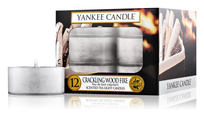 Yankee Candle Crackling Wood Fire Tealight Candle 12 stk.