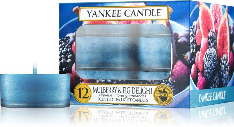 Yankee Candle Mulberry & Fig čajová svíčka 12 ks