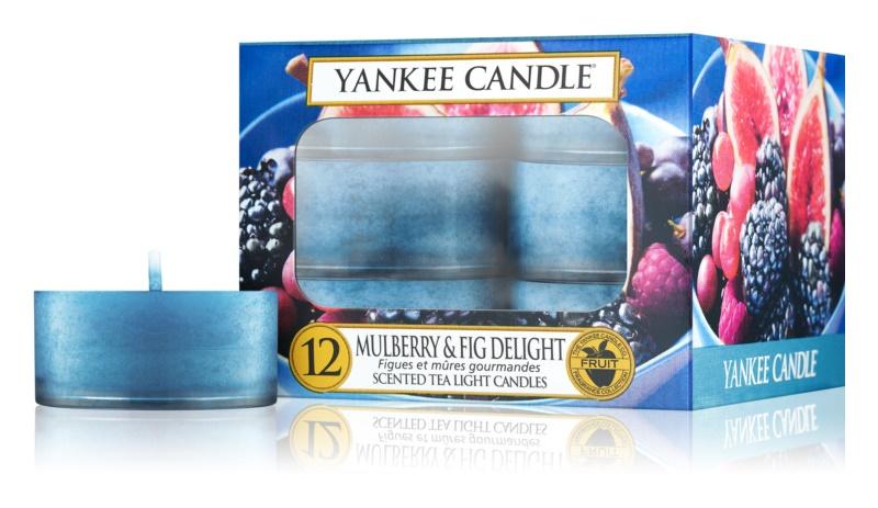Yankee Candle Mulberry & Fig świeczka typu tealight 12 szt.