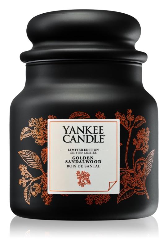 Yankee Candle Golden Sandalwood vonná sviečka 410 g stredná