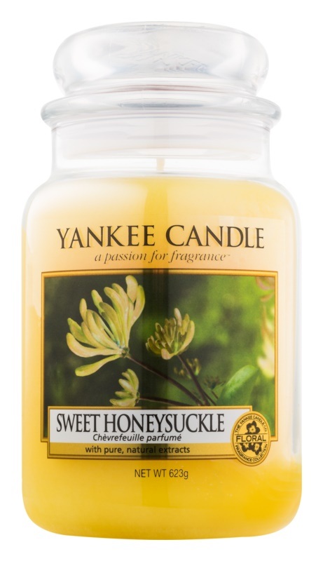 yankee candle sweet honeysuckle bougie parfum e 623 g classic grande. Black Bedroom Furniture Sets. Home Design Ideas