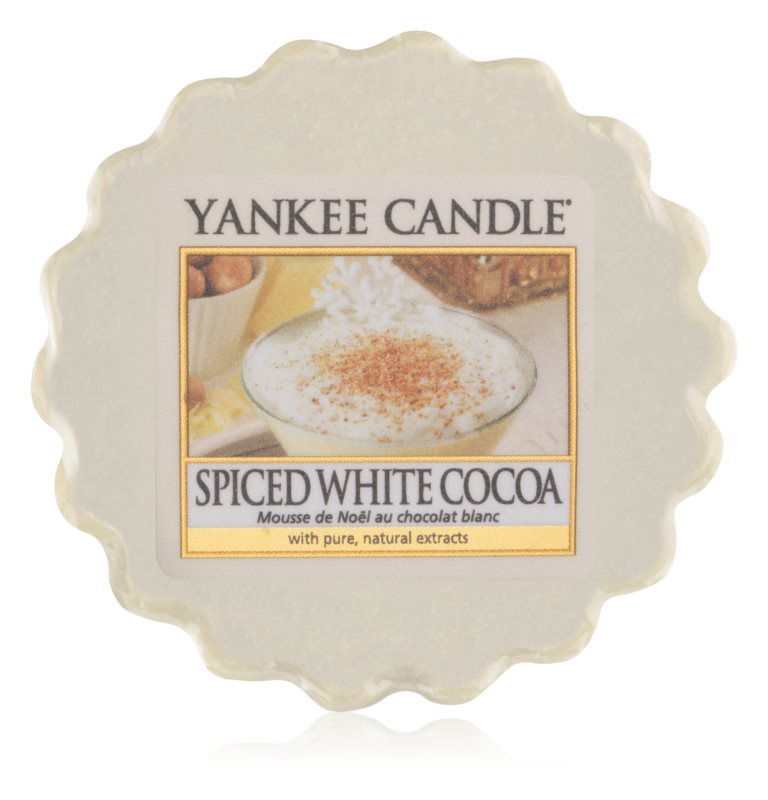 Yankee Candle Spiced White Cocoa Duftwachs für Aromalampe 22 g