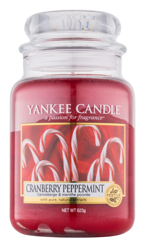 Yankee Candle Cranberry Peppermint Duftkerze  623 g Classic groß