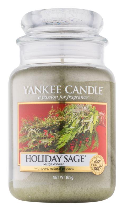 Yankee Candle Holiday Sage vonná sviečka 623 g Classic veľká