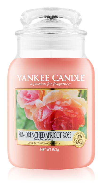 Yankee Candle Sun-Drenched Apricot Rose candela profumata 623 g Classic grande