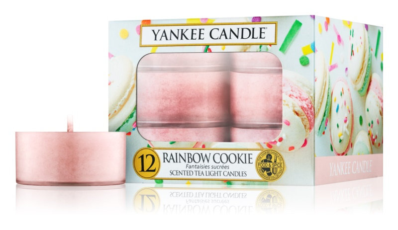 Yankee Candle Rainbow Cookie świeczka typu tealight 12 x 9,8 g