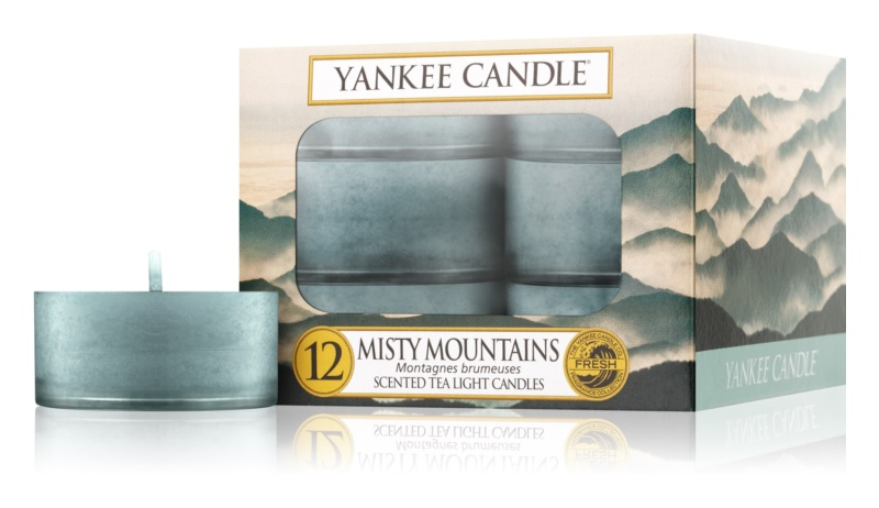Yankee Candle Misty Mountains čajová sviečka 12 x 9,8 g
