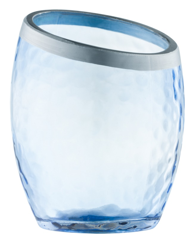 Yankee Candle Pearlescent Crackle Glazen votiefkaarshouder     Blue